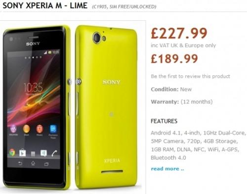 Sony Xperia M может выйти в августе